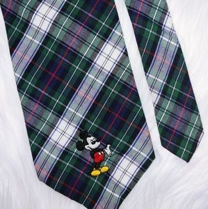 Mickey Mouse Disney Cotton Plaid Tie 59